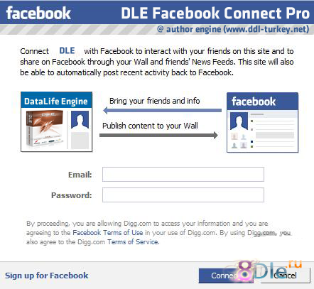 DLE Facebook Connect Pro