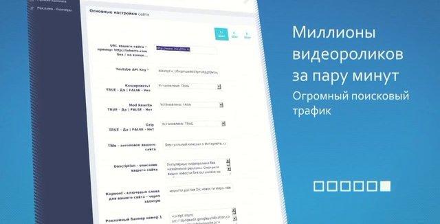Tuberro CMS - Система управления автонаполняемым видео сайтом