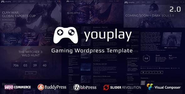 Youplay v2.0.2 - игровой шаблон для Wordpress