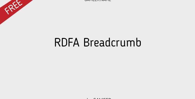 RDFA Breadcrumb
